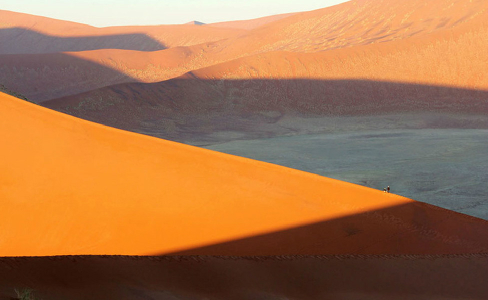 Namibia View from Dune 45 at dawn