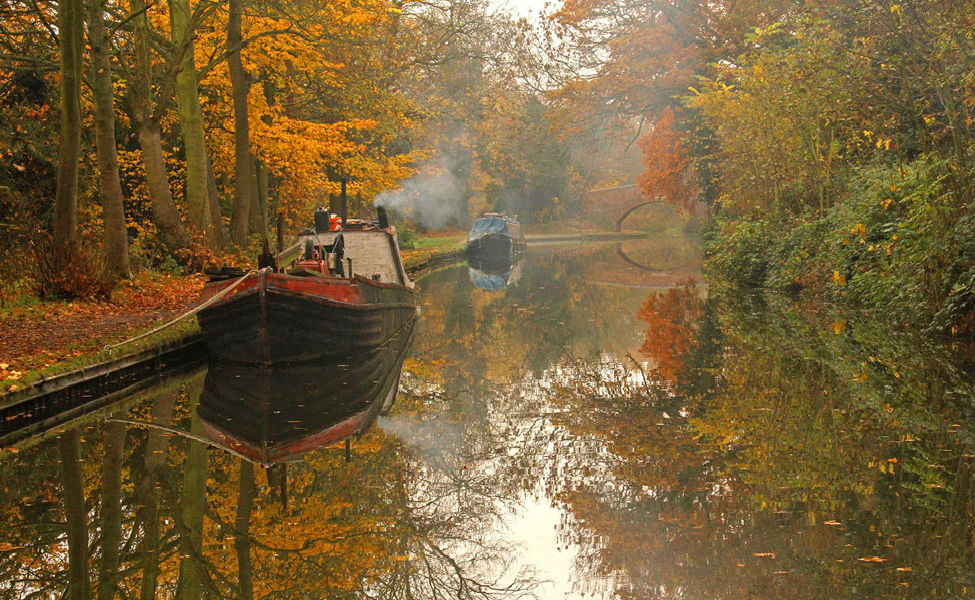 November on the Grand Union Canal by Juliet Morton Low Res
